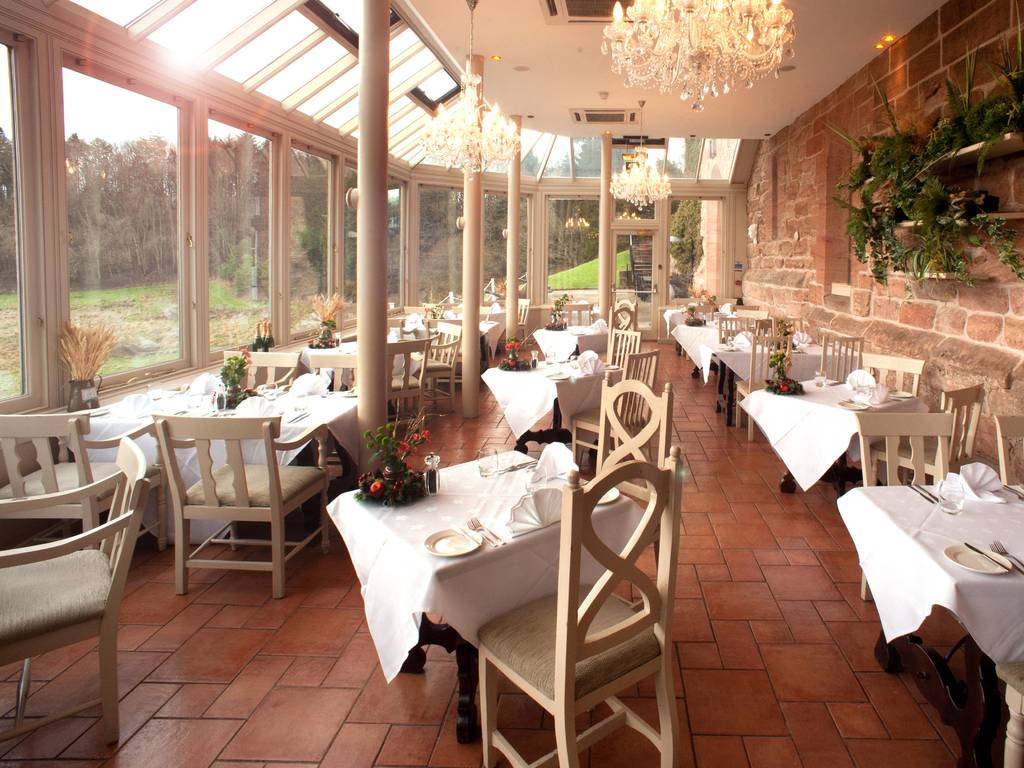 The Orangery restaurant, Dalhousie Castle